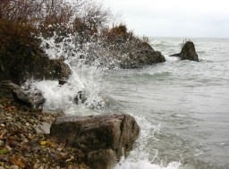 Waves along the Lake Erie Islands