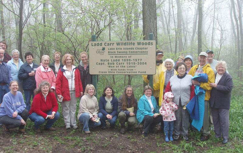Group enjoying Ladd Carr Wildlife Woods - Put-In-Bay Ohio