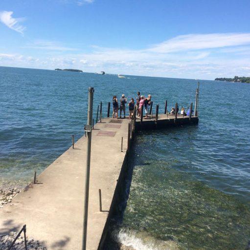 Pier at the Massie Cliffside Preserve