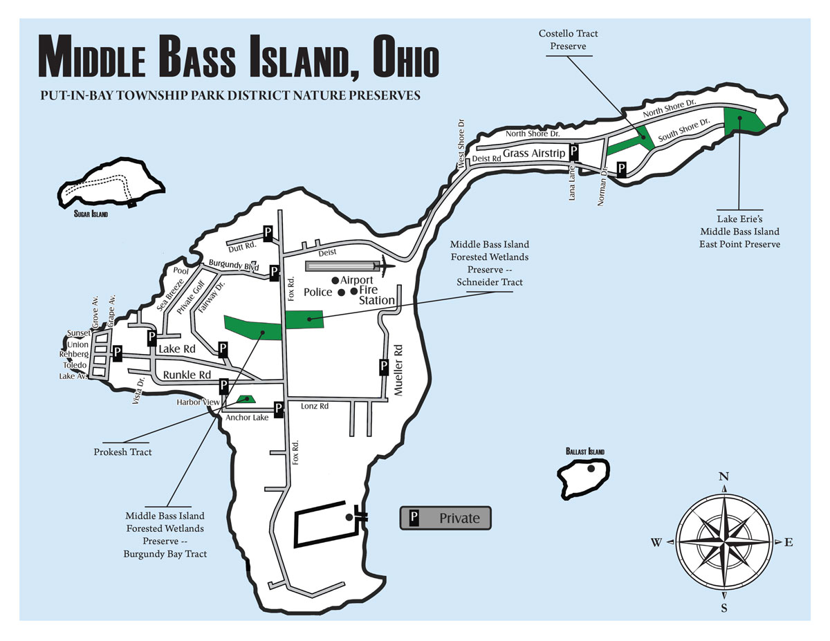 Middle Bass Island Map