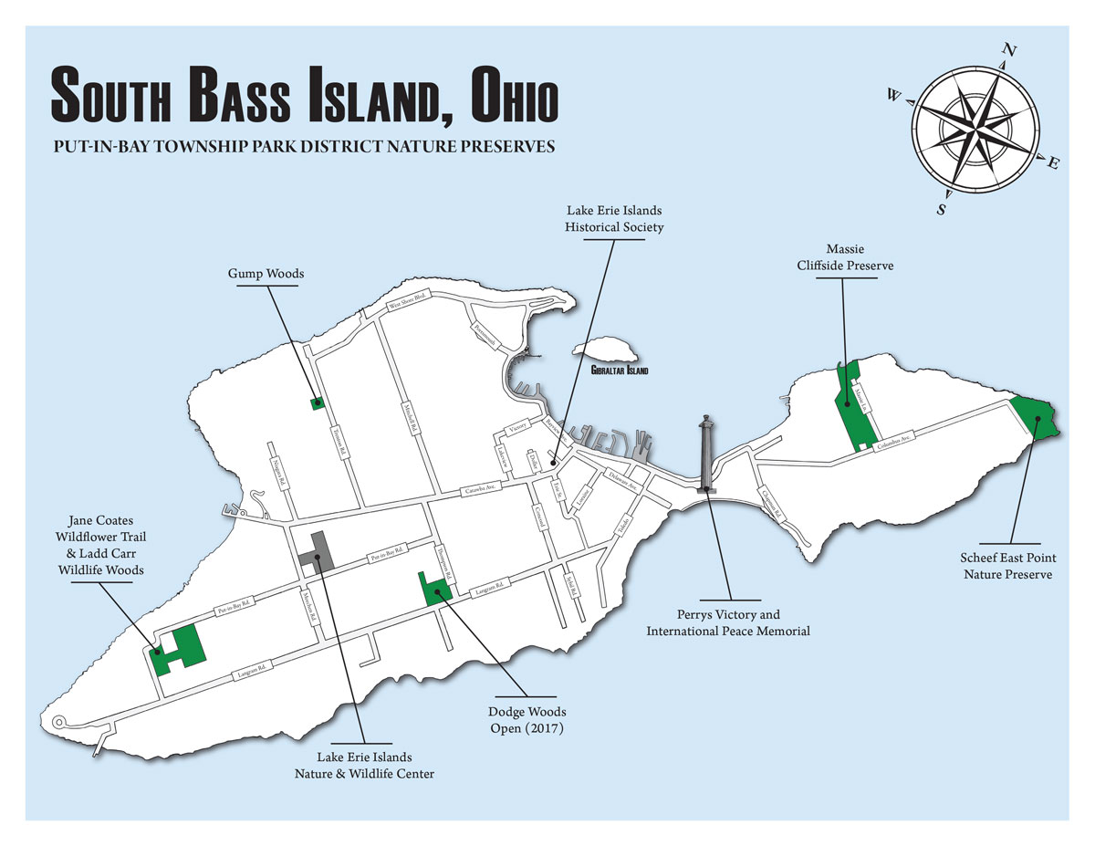 South Bass Island Map