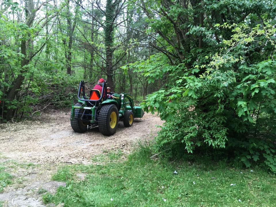 Richard Gump Installing Dodge Woods Trail