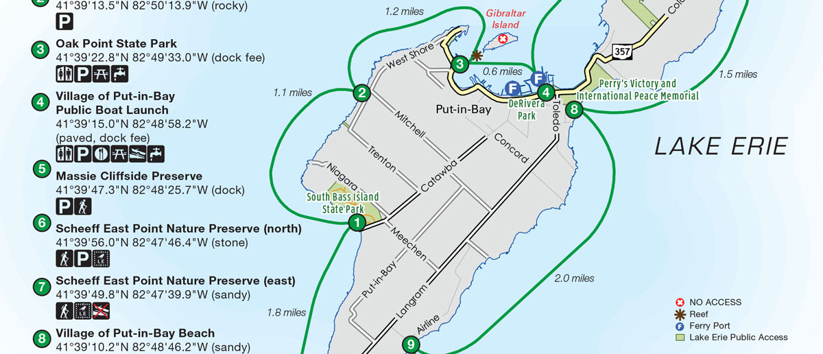 Lake Erie Islands Trail Maps
