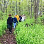 Walkers on the Jane Coates Wildflower Trail