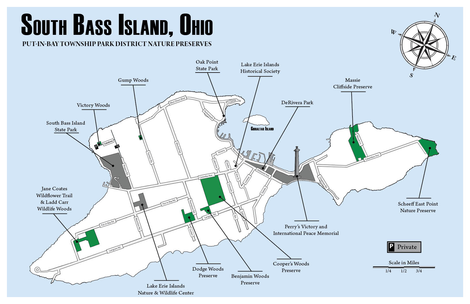 Lake Erie – South Bass Island, Ohio Map